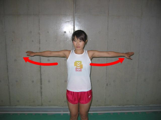 肩関節の水平外転