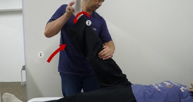 変形下肢拳上テスト Ⅲ(ボンネー徴候)